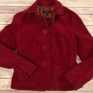 red corduroy blazer jacket Talbots